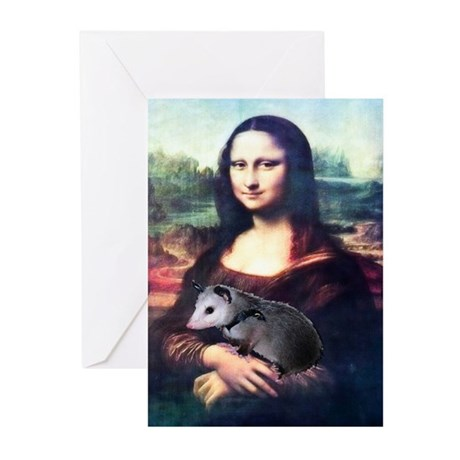 Mona Lisa Possum Greeting Cards (Pk of 20)