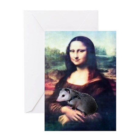 Mona Lisa Possum Greeting Card