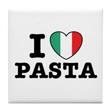 I Love Pasta Tile Coaster