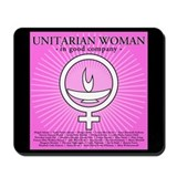 """Unitarian Woman In Good Company"" Mousepad"