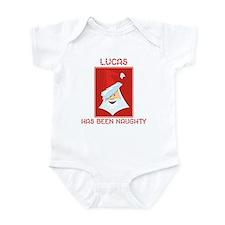LUCAS has been naughty Infant Bodysuit