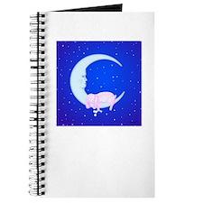 Bunny Sleeping on the Moon Journal