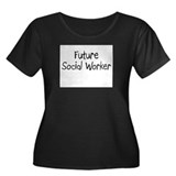 Future Social Worker Women's Plus Size Scoop Neck