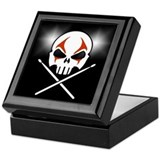 Skull & Drum Sticks Musician's Box