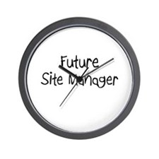 Future Site Manager Wall Clock