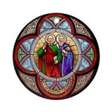 Peter and Paul window Ornament (Round)