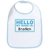 Hello My Name Is: Braden - Bib