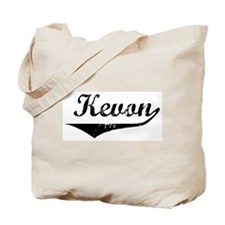 Kevon Vintage (Black) Tote Bag