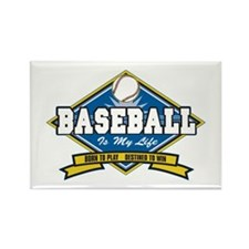 Baseball Is My Life Rectangle Magnet (10 pack)