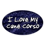 Funky Love Cane Corso Oval Decal