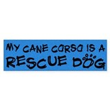 Rescue Dog Cane Corso Bumper Bumper Sticker