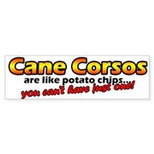 Potato Chips Cane Corso Bumper Bumper Sticker