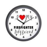 Firefighter Boyfriend Wall Clock