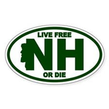 Green New Hampshire Live Free Or Die Decal