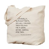 Chuck TV On Planet Earth quote Tote Bag