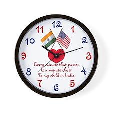 Waiting Adoptin India Clock