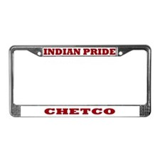 Indian Pride Chetco License Plate Frame