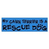 Rescue Dog Cairn Terrier Bumper Bumper Sticker
