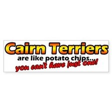Potato Chips Cairn Terrier Bumper Bumper Sticker