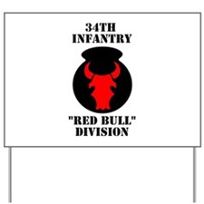 34th Infantry Division (4) Yard Sign