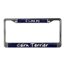 Funky Love Cairn Terrier License Plate Frame