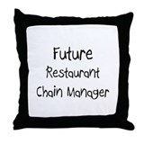 Future Restaurant Chain Manager Throw Pillow