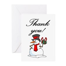 Snowman thank you Greeting Cards (Pk of 10)