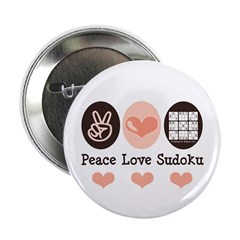 "Peace Love Sudoku 2.25"" Button (10 pack)"