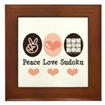 Peace Love Sudoku Framed Tile
