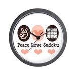 Peace Love Sudoku Wall Clock