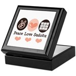 Peace Love Sudoku Keepsake Box