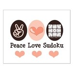 Peace Love Sudoku Small Poster