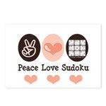Peace Love Sudoku Postcards (Package of 8)