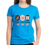 Peace Love Sudoku Women's Dark T-Shirt