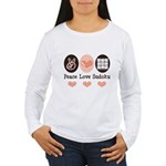 Peace Love Sudoku Women's Long Sleeve T-Shirt