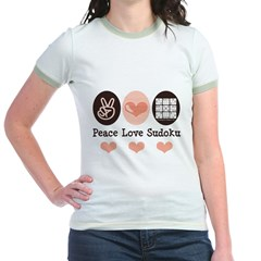 Peace Love Sudoku Jr. Ringer T-Shirt