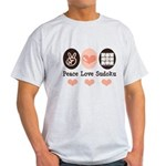 Peace Love Sudoku Light T-Shirt