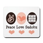 Peace Love Sudoku Mousepad
