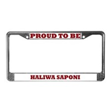 Proud to Be Haliwa Saponi License Plate Frame