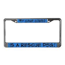 Rescue Dog Cane Corso License Plate Frame