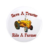 "Ride a Farmer 3.5"" Button"