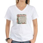 Hark! The Herald Angels Sing Women's V-Neck T-Shir