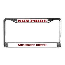 Muskogee Creek NDN Pride License Plate Frame