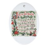 Joy to the World Oval Ornament