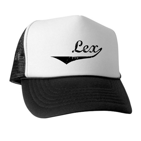 Lex Vintage (Black) Trucker Hat