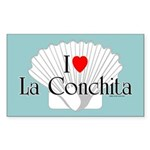 La Conchita Rectangle Sticker