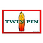 Twin Fin Rectangle Sticker
