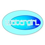 Watergirl Oval Sticker