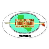 Cali Longboard Assoc Oval Decal