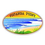 Topanga Point Oval Sticker